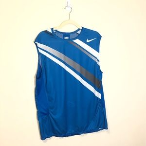 Nike men's fit dry sleeveless athletic top xlarge